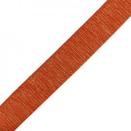 Lurex strap golden - cinamon x 1m