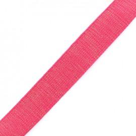 Lurex strap golden - magenta x 1m
