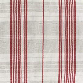 Tissu toile métis matelas (160cm) - rouge x 10cm