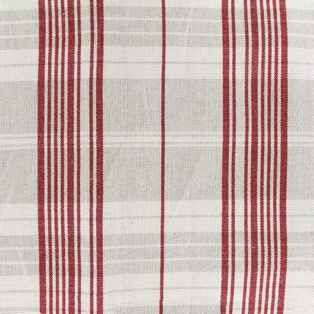 Tissu toile métis matelas - rouge x 10cm