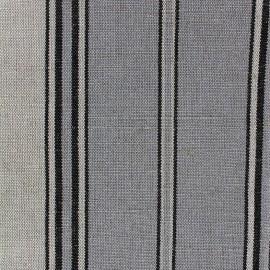 Tissu toile métis rayé (160cm) - gris bleu x 10cm