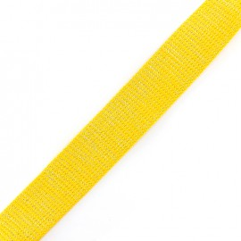 Lurex strap silvered - yellow x 1m