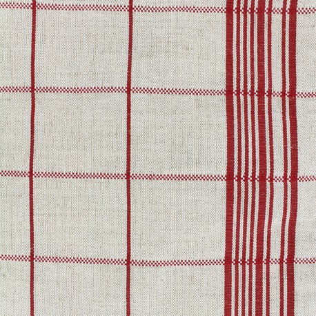 Rondelette metis canvas fabric - red x 10cm