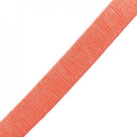 Lurex strap silvered - corail x 1m