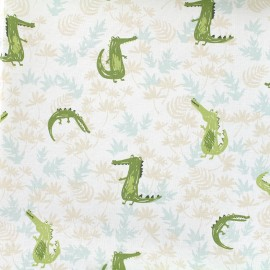 Tissu coton Daily Like - Crocodile x 10cm