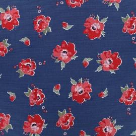 Tissu toile coton Daily Like - Red velvet x 10cm