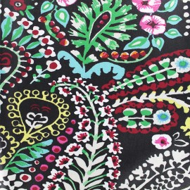 Coated cotton fabric Talya - black x 10cm