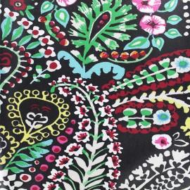 Tissu enduit coton Talya - noir x 10cm
