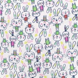 Tissu coton cretonne Spoony - multicolore x 10cm