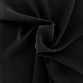 Tissu crêpe gaufré uni - noir x 10cm
