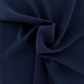 Tissu crêpe gaufré uni - marine x 10cm