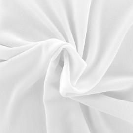 Tissu crêpe gaufré uni - blanc x 10cm