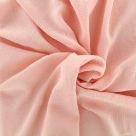 Tissu crêpe gaufré uni - pêche clair x 10cm