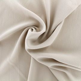 Plain embossed Crepe Fabric - light beige x 10cm