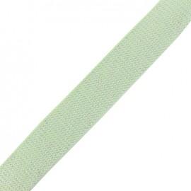 Lurex strap silvered - light mint x 1m