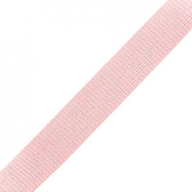 Sangle lurex argenté - rose pastel x 1m