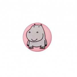 Bouton polyester Petit hippo- rose