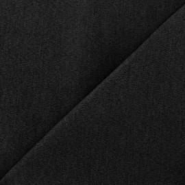 ♥ Coupon tissu 35 cm X 130 cm ♥ Tissu Jeans élasthanne uni - noir