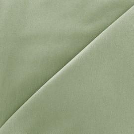 Elastic plain jeans fabric - sauge green x 10cm