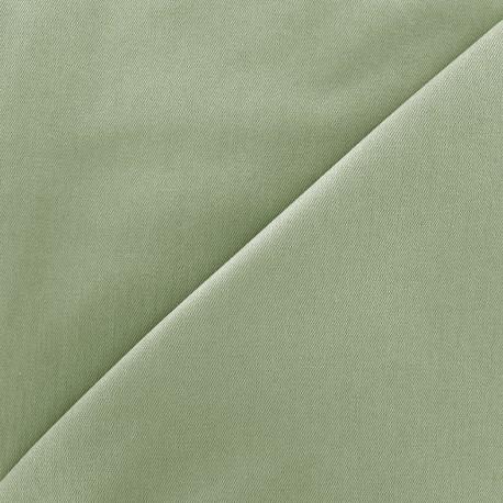 Tissu Jeans élasthanne uni - vert céladon x 10cm