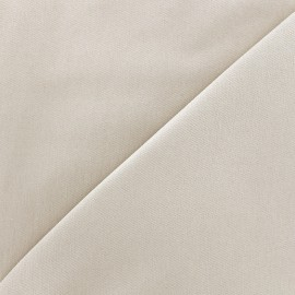 ♥ Coupon 30 cm X 140 cm ♥ Tissu Jeans élasthanne uni - gris argile