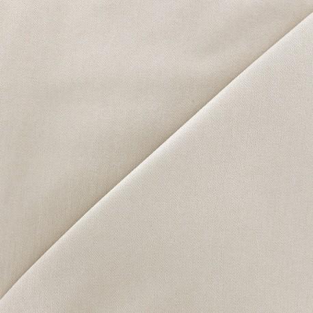 Tissu Jeans élasthanne uni - gris argile x 10cm