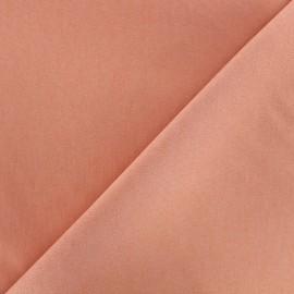 Elastic plain jeans fabric - pink tea x 10cm