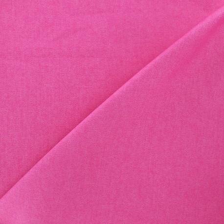 Elastic plain jeans fabric - fuchsia x 10cm