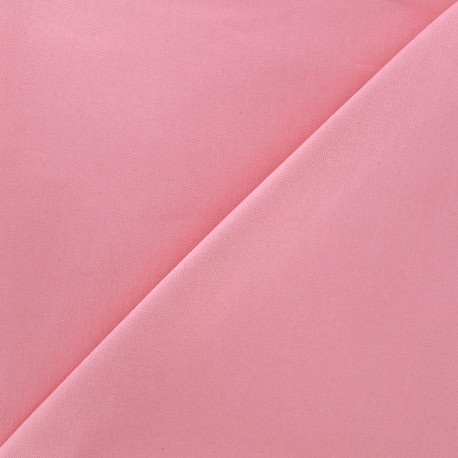 Elastic plain jeans fabric - pink x 10cm