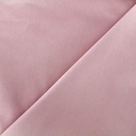 ♥ Coupon 110 cm X 140 cm ♥ Tissu Jeans élasthanne uni - vieux rose