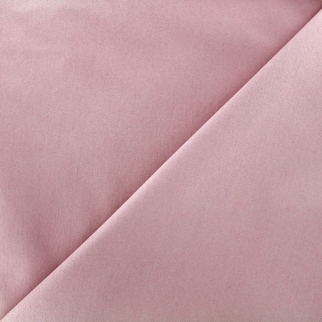 Elastic plain jeans fabric - old pink x 10cm