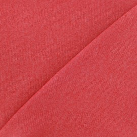 Elastic plain jeans fabric - red x 10cm