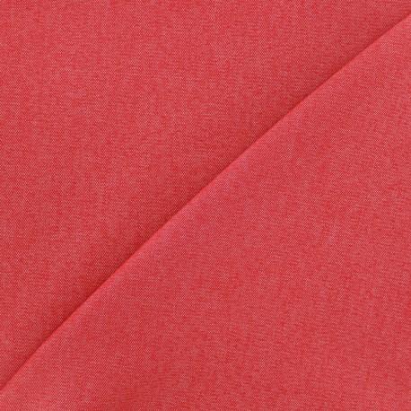 Tissu Jeans élasthanne uni - rouge x 10cm