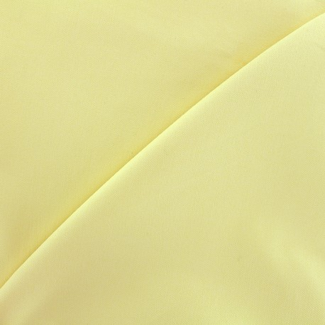 Elastic plain jeans fabric - light yellow x 10cm
