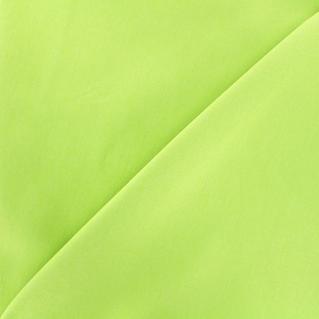 Elastic plain jeans fabric - anise x 10cm
