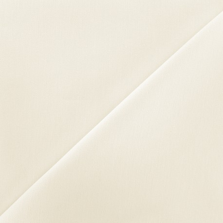 Elastic plain jeans fabric - ecru x 10cm
