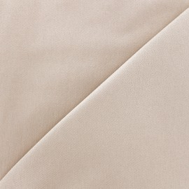 ♥ Coupon tissu 40 cm X 130 cm ♥ Tissu Jeans élasthanne uni - beige clair