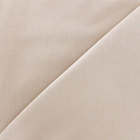 Tissu Jeans élasthanne uni - beige clair