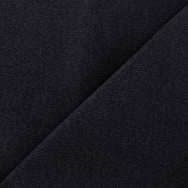 Elastic plain jeans fabric - navy x 10cm