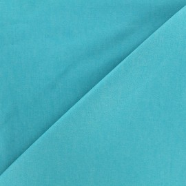 Elastic plain jeans fabric - azure x 10cm