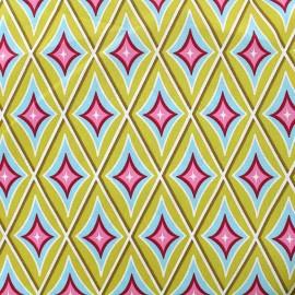 Tissu coton Circus Diamond - tilleul x 10cm