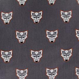 Tissu Poppy Wild wolf - ardoise x 10cm