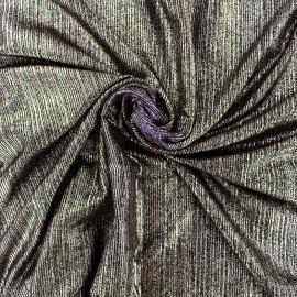 Tissu polyester lycra plissé métallisé - doré x 10cm
