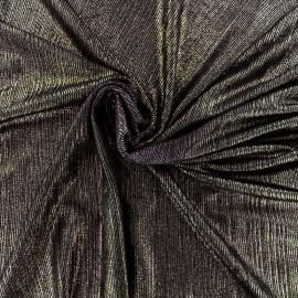 Metallic pleated polyester lycra - bronze x 10cm
