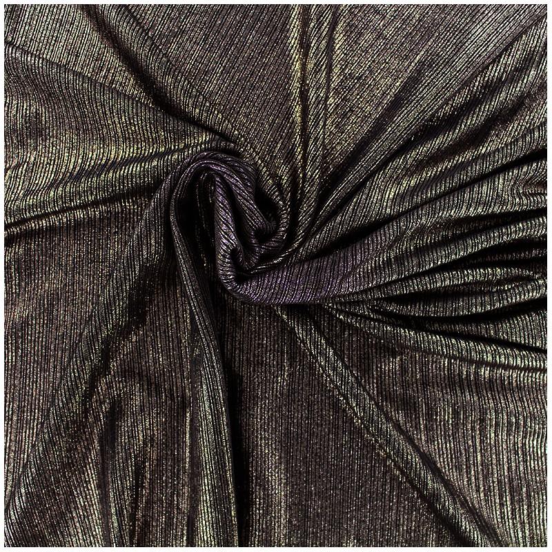 tissu polyester lycra pliss m tallis bronze x 10cm. Black Bedroom Furniture Sets. Home Design Ideas