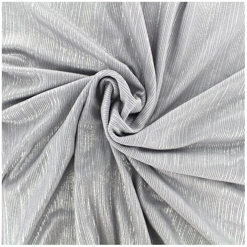 tissu polyester lycra pliss m tallis argent x 10cm. Black Bedroom Furniture Sets. Home Design Ideas