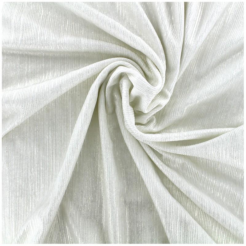 tissu polyester lycra pliss m tallis cru x 10cm ma. Black Bedroom Furniture Sets. Home Design Ideas