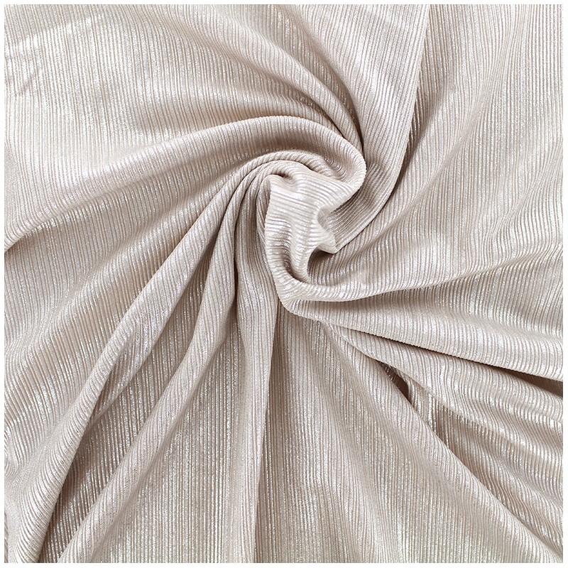 tissu polyester lycra pliss m tallis rose argent x. Black Bedroom Furniture Sets. Home Design Ideas