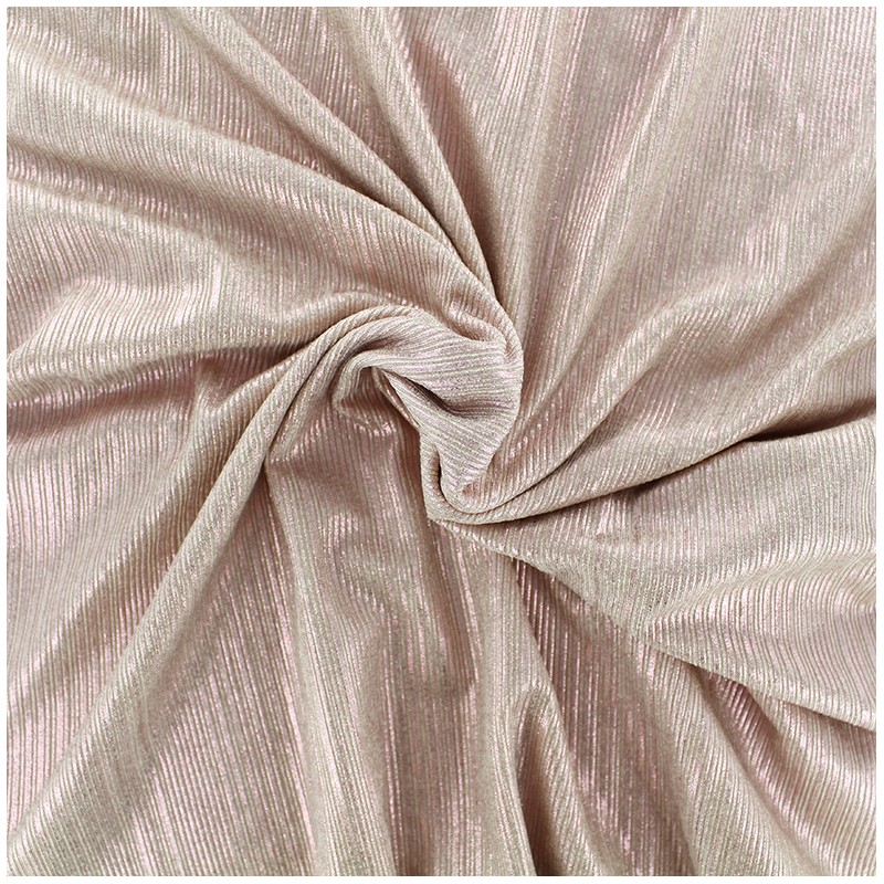 tissu polyester lycra pliss m tallis rose x 10cm ma. Black Bedroom Furniture Sets. Home Design Ideas