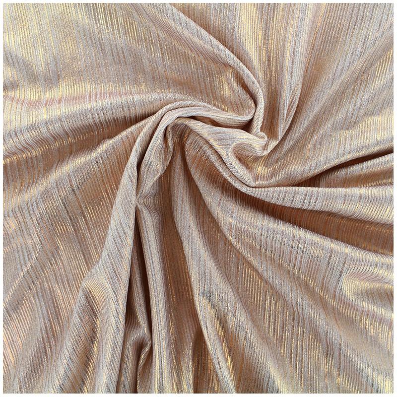 tissu polyester lycra pliss m tallis rose cuivr x. Black Bedroom Furniture Sets. Home Design Ideas